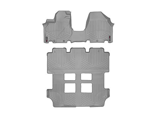 WeatherTech Custom Fit FloorLiner for Honda Odyssey - 1st Row Over The Hump, 2nd, 3rd Row (Grey)