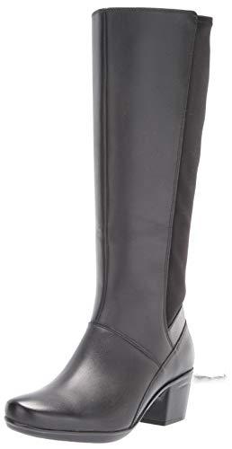 Clarks Women's Emslie Emma Fashion Boot, Black, 8