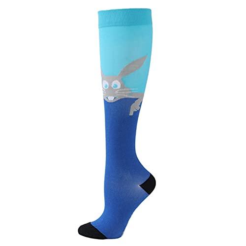 PYBH Nuevos Calcetines de compresión Hombres Mujeres Anti Fatiga varicosa Venas Edema Rodilla Alto 20-30 mmHg Deportes Medias de compresión (Color : 74, Talla : S-M)