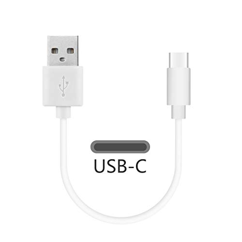 Geekria USB-C Charger Cable for Sony WF-1000XM3 WF-SP900, Samsung Galaxy Buds, Gear IconX, Jabra Elite 75t, JayBird Vista and More Type-C Charging Port True Wireless Earbuds (White 1FT)