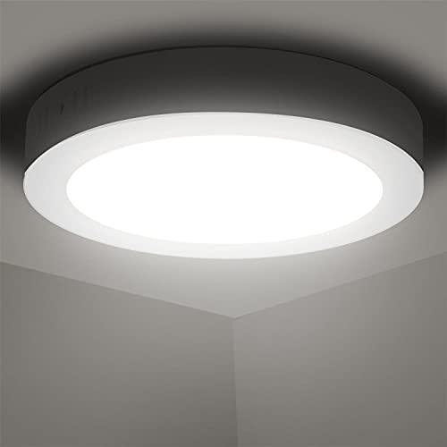 Aigostar Plafoniera LED, 18W Equivalente a 162W, alta luminosità, IP20 1530LM, Lampada da Soffitto per Bagno Cucina Corridoio e Balcone, Plafoniera dritta 4000K Luce naturale, Ø22.6cm