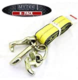 Mytee Products (8 Pack) 2' x 8' Recovery Winch Strap w/RTJ Cluster Hook Towing Truck Wrecker Tie Down