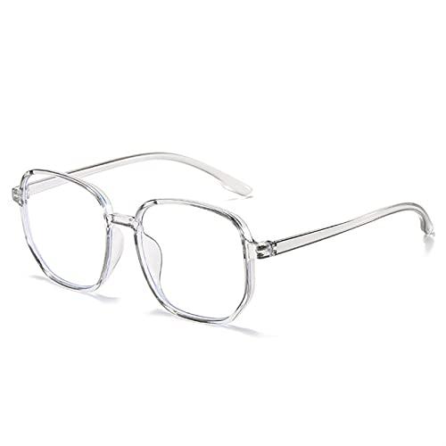 Gafas de lectura antiluz azul para mujer, estilo vintage, para hombre, lentes de cristal óptico, marco liso, gafas de juego (color S3, tamaño: +200)