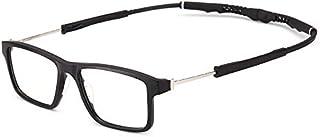FRGTHYJ - FRGTHYJ Eyeglasses Sport Frame Clip magnético en Gafas de Sol polarizadas Brazos Extensibles para Hombres Running Fishing Baseball Sport Glass Frame
