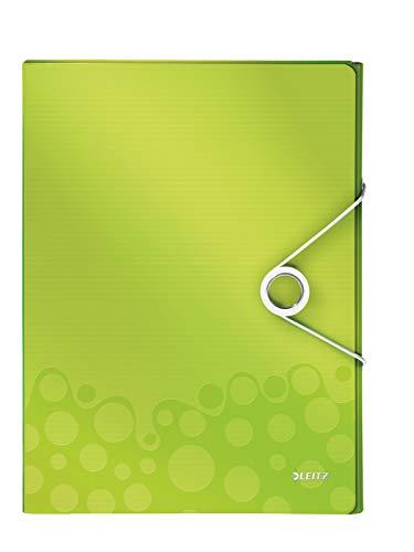 Leitz 46290064 Ablagebox WOW, A4, PP, 30 mm, grün metallic