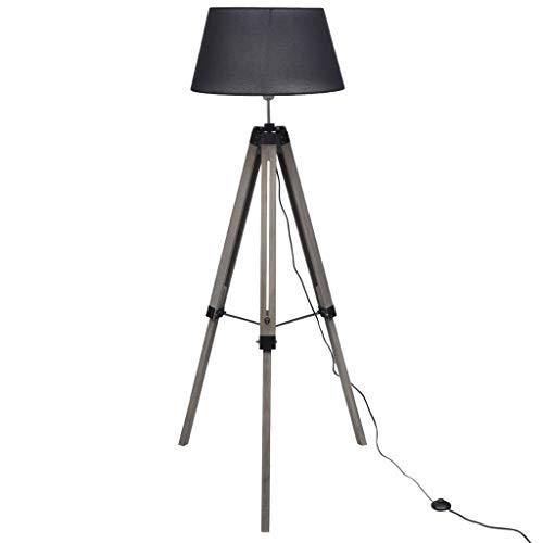 vidaXL Stehlampe Stativ-Standfuß Design Schwarz Stativlampe Stehleuchte Lampe