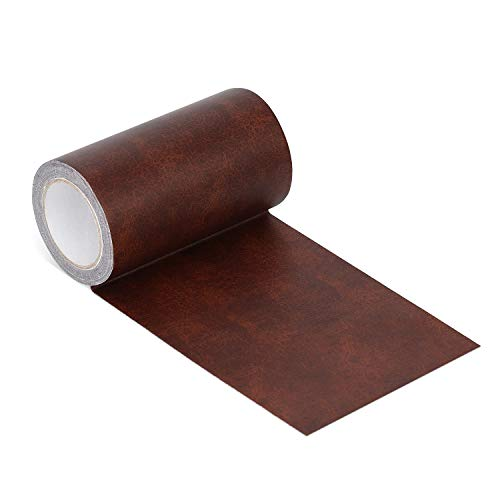 Azobur Leather Repair Tape Patch Leather Adhesive for Sofas, Car Seats, Handbags, Jackets,First Aid Patch (red Brown Leather)