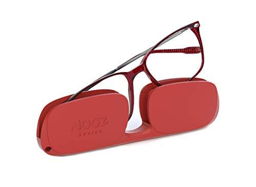 Nooz Optics - Gafas de Lectura - Essential Bao - Forma Rectangular - Montura de nailon ultraligera - Estuche ultracompacto para el uso diario - 6 Colores - Hombre y Mujer
