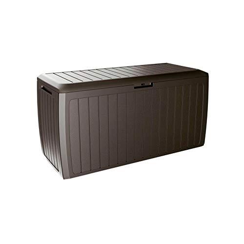Prosperplast Boxe Board Coffre de Jardin 290 litres Plastique Ocre foncé 116,6 x 47 x 59,5 cm, 290 L