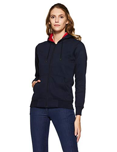Qube By Fort Collins Women's Sweatshirt (307 SMU_Navy Blue_L)