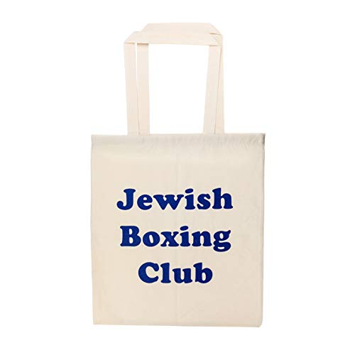 KraftworkN7 Jüdische Box-Club-Einkaufstasche, Natur/Marineblau, Einheitsgröße
