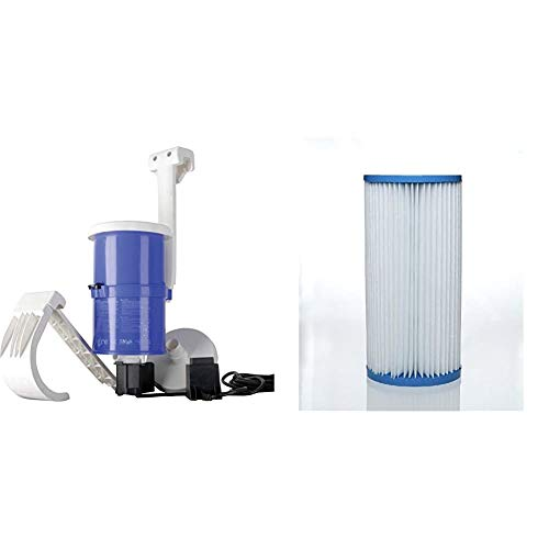 Gre AR124 - Filtro de Cartucho para Piscina, 70 W, 3.800 l/h + AR82 - Cartucho de Filtración para Las Depuradoras de Piscina AR125, AR124 y AR118