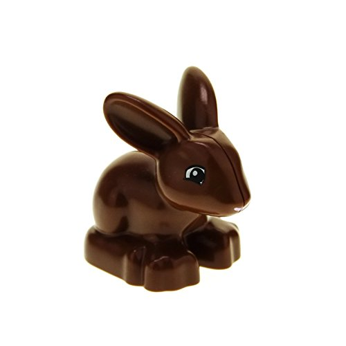 1 x Lego Duplo Tier Hase reddish braun Kaninchen bunny Rabbit für Set 30217 Set 10571 4623 5685 dupbunnyc01pb01