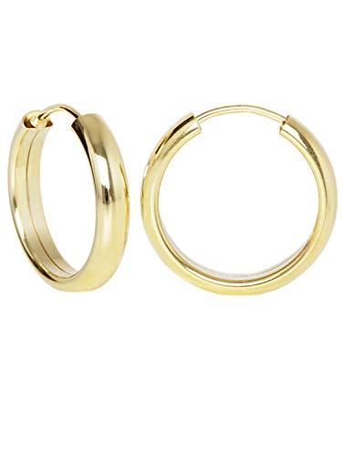 MyGold Creolen Ohrringe Gelbgold 585 Gold (14 Karat) Rund Ø 20mm Glanz Ohne Stein Goldohrringe Goldcreolen Damenohrringe Pretty Celine V0004867