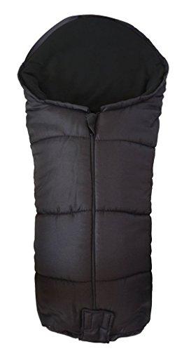 Deluxe/Chancelière cosy orteils Compatible avec Orbit bébé nouveau-né G3 Poussette Noir