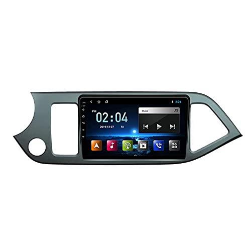 WXFN Lettore MP5 per Autoradio 9 Pollici Touchscreen, per KIA Morning Picanto 2011-2015 Supporto Bluetooth/USB/WiFi/SWC/Specchio Link/FM/AM, con Fotocamera Posteriore,Quad Core,WiFi 1+32