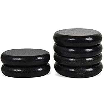 June Fox Hot Stones for Massage 4 Large and 2 Medium Basalt Stones Set Hot Rocks Massage Stones for Spa Relaxing Healing