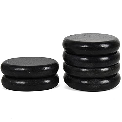 June Fox Hot Stones for Massage 4 Large and 2 Medium Basalt Stones Set Hot Rocks Massage Stones for...