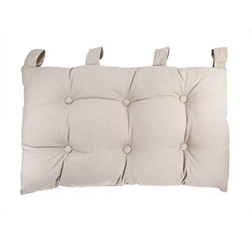 Enjoy Home 2007CHTL070045 - Testiera da letto in tessuto, 70 x 9 x 45 cm, Tessuto, Neutro, 9 X 45 CM