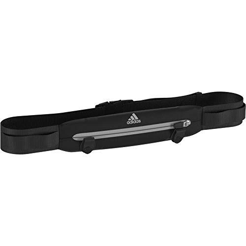 adidas Run Belt Cinturón, Unisex Adulto, Negro/Negro/Refsil, Talla Única