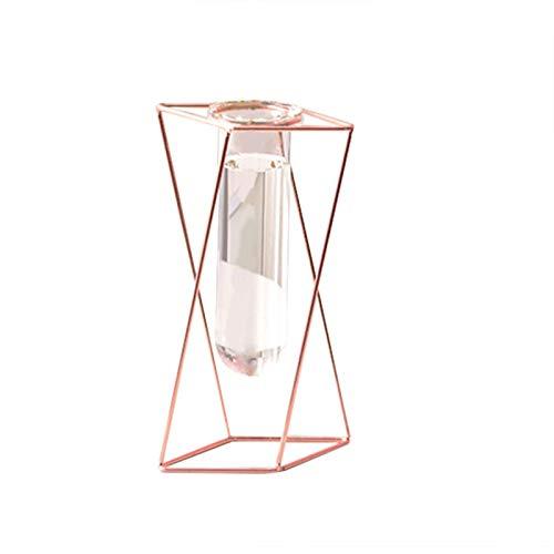 Speaklaus Geometrische Vasen Schmiedeeisen Ornamente Wohnzimmer Blumenarrangement Home Glas Blumenständer Dekoration