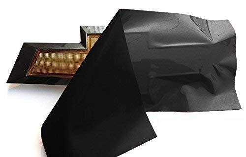 VViViD XPO Gloss Black Chevy Bowtie Logo Wrap Kit (2 Rolls (11.8 Inches x 4 Inches))