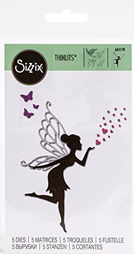 Sizzix 665178-Set di Fustelle Thinlits, 5 Pezzi, Multicolore, taglia unica
