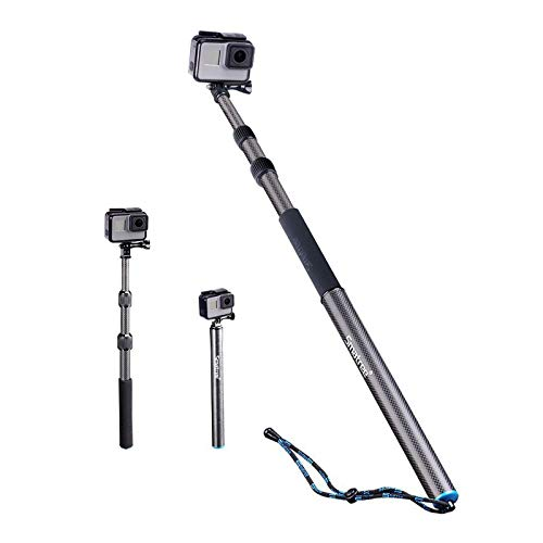 Smatree Carbon Fiber Detachable Extendable Floating Pole Compatible for GoPro MAX/GoPro Hero Fusion/9/8/7/6/5/4/3 Plus/3/Session/GoPro Hero 2018/DJI OSMO Action Camera
