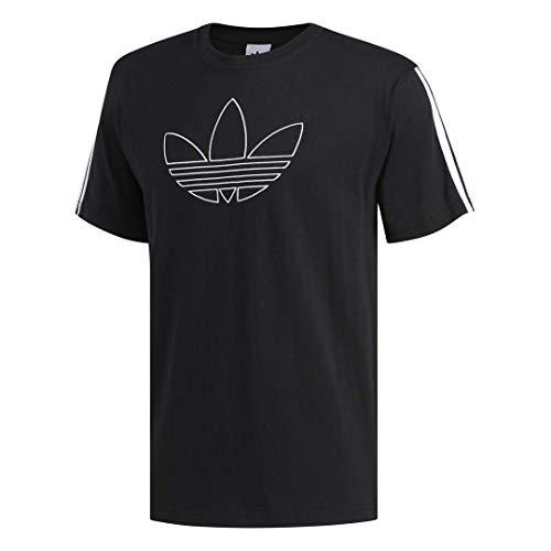 adidas Originals Men's Outline Trefoil Tee, black, Medium