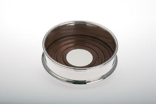 Sekt und Weinkühler Flaschenständer Holz versilbert H 4,0cm D 10,0cm