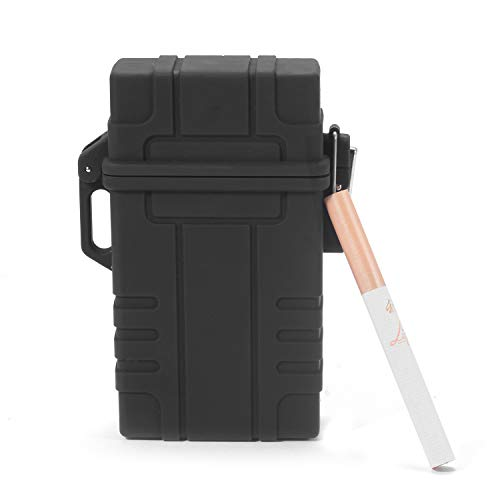 Waterproof Cigarette Case with Electric Lighter, USB Rechargeable...