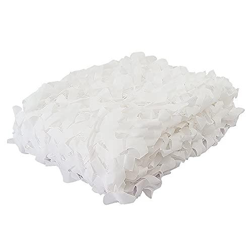 Blanco Red de Camuflaje Oxford Malla de Camuflaje Cubierta Ligera de Sombra de Caza Malla de Camuflaje en Poliéster para Caza Sombrillas Niños Decoración 1.5×2m(Size:1.5×20m/4.9×65.6ft,Color:BLANCO)