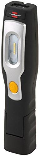 Brennenstuhl LED Arbeitsleuchte mit Akku / Multifunktionsleuchte mit 6+1 hellen SMD-LEDs (max. 3h Leuchtdauer, Werkstattlampe mit 350+80lm, knickbarer Haltefuß und integrierter Magnet)
