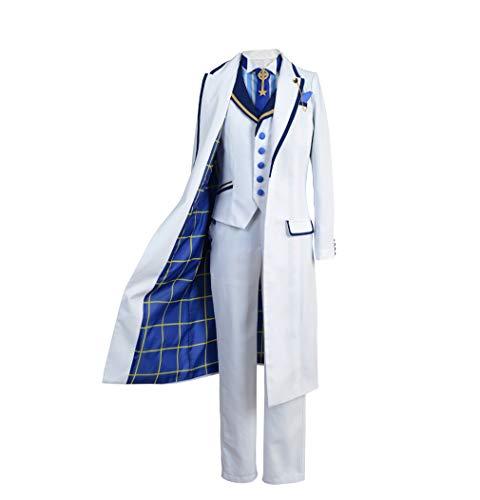 COSEASY Fate Grand Order Arthur Pendragon Cosplay Costume FGO Saber Jacket Coat Full Set Suit (Male: Medium, White)