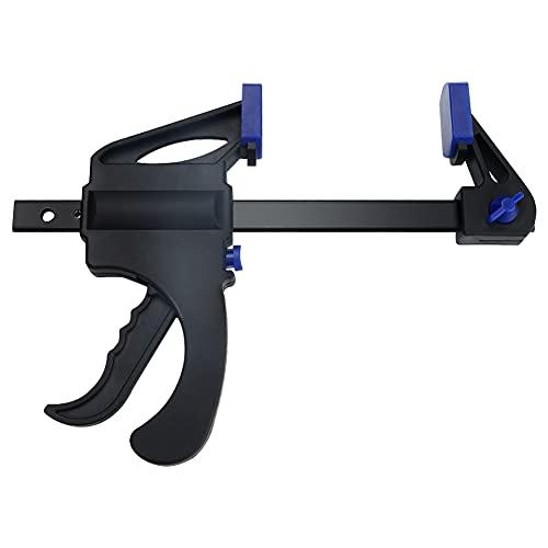 SANGSHI Sargento de una sola mano, clip de sujeción rápida en forma de F, mango de sujeción rápida, pinza de carpintería, herramienta de carpintería