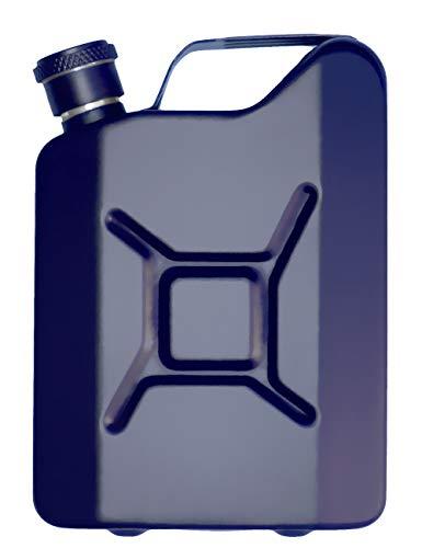 Outdoor Saxx® - Edelstahl Flachmann Sprit Benzin-Kanister Optik, Taschen-Flasche, Trink-Flasche, Schnaps-Flasche, Tolle Geschenk-Idee in Geschenk-Box, 150 ml, blau