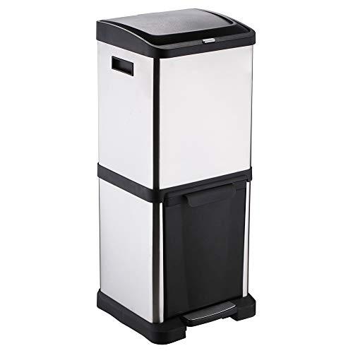 Protenrop Ecol-Tower - Cubo de basura con 2 compartimentos, 34 litros