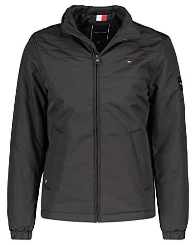 Tommy Hilfiger Herren Padded Stand Collar Jacket Jacke, Schwarz, XL