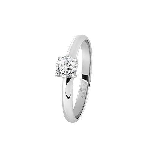 Morellato Anello da donna, Collezione Love Rings, in acciaio e cristalli - SNA42016