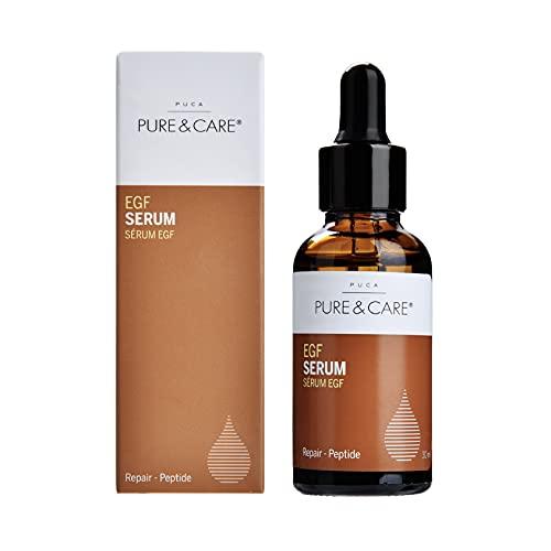 PUCA PURE & CARE | EGF Serum Essence | 30ml | Für Hautregeneration, Zellerneuerung, Narben-Behandlung und Feuchtigkeitspflege | EGF-Protein, EGF-Serum, Beta Glucan und Hyaluronsäure | Alle Hauttypen