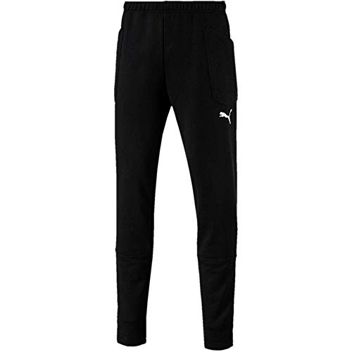 PUMA Herren Liga Casuals Pants Hose, Black White, L