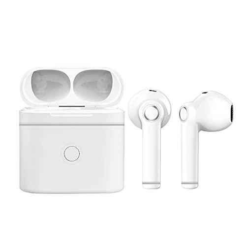 Auriculares Bluetooth con Micrófonos, True Wireless Earbuds Impermeable Auriculares Inalámbricos Bluetooth 5.0 QCY HiFi Mini Twins Estéreo In-Ear Bluetooth con Caja de Carga Portátil