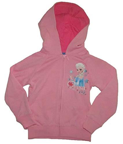 Frozen - Die Eiskönigin Mädchen Sweatshirtjacke Anna & ELSA Kinder Jacke Sweatshirt (104, rosa)