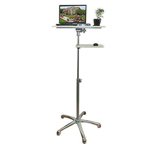 Home Beistelltische Tisch Mobil Stehpult Höhenverstellbarer Computerarbeitsplatz für Den Home-Office-Schreibtisch, BOSS LV, Höhe 93-144 cm