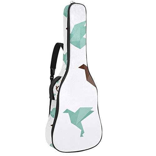 Bennigiry Origami Birds - Bolsa de guitarra acústica para guitarrista