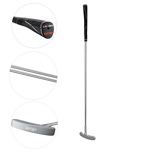 LEAGY Timeless Classic Golf Putter 35' Length - Putt Putt Style Two-Way Head and Premium Rubber Grip for Male & Female Right or Left Handed Golfers