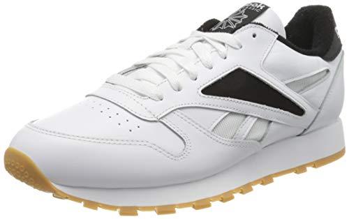 Reebok CL Leather Mark, Scarpe da Ginnastica Uomo, White/Black/White, 44 EU