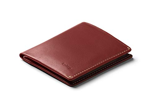 Bellroy Note Sleeve Wallet (Slim Leather Bifold Design, RFID Blocking, Holds 4-11 Cards, Coin Pouch, Flat Note Section) - - Red Earth - RFID