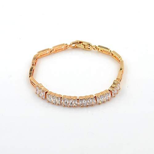 XBJ Pulsera de Mujer, Pulsera de Diamantes de aleación de Alta Gama Europea y Americana, Pulsera Simple de Moda
