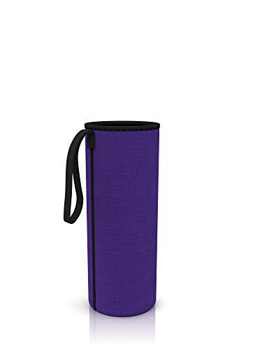 spottle® Funda de neopreno para superficies de cristal de 550, 750 o 1000ml, fabricada en neopreno ecológico (Púrpura, 750ml)